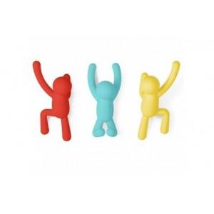 """Вешалки-крючки """"Buddy"""" 3 крючка разноцветные Umbra 318165-022"""