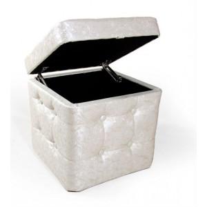 Пуфик с крышкой Менса 333-04К Flo white