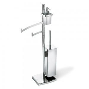 Стойка с ершиком, держателем для туалетной бумаги, полотенцедержателем, с дозатором Open Kristallux TD165.013