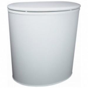 Корзина для белья виниловая, овальная Koh-i-noor 2285WHWH