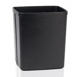 Корзина для мусора Эко кожа черная Andrea House PA12224