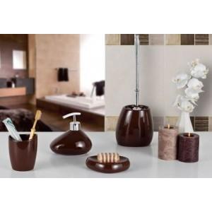 Набор аксессуаров для ванной Primanova Bistro D-13584-S коричневый