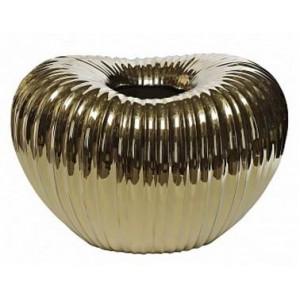 Ваза керамическая, золотая Garda Decor 10K9042