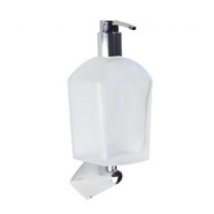 Универсальный настенный держатель + стеклянный матовый дозатор для жидкого мыла Koh-i-noor 6715+K957