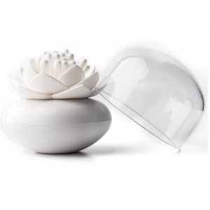 Контейнер для ватных палочек Umbra Lotus белый QL10157-WH-WH