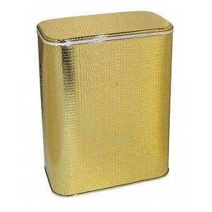 Корзина для белья Cameya GKr-B большая золото/крокодил