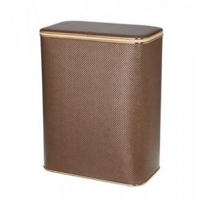 Корзина для белья Cameya KDG-M коричневая малая с золотой окантовкой