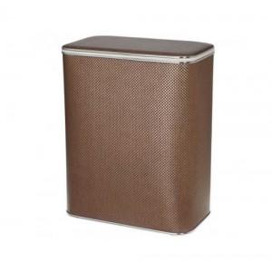Корзина для белья Cameya KDH-M коричневая малая с хромированной окантовкой