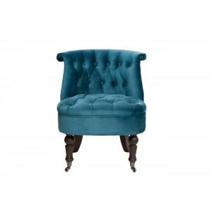 Кресло низкое сине-зеленое велюровое HD2202868-BBD