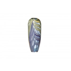 Ваза стеклянная фиолетовая HJ6037-36-O80