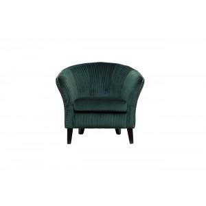 Кресло низкое велюровое изумрудное PJS30801-PJ622