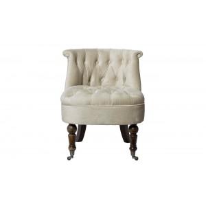 Кресло низкое бежевое велюровое HD2202868-BTD
