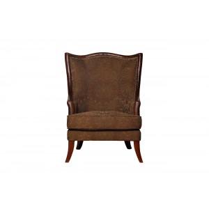 Кресло коричнево-зеленый жаккард PJS11901-PJ882/PJ955
