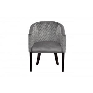 Кресло серое стёганное велюровое FC-32GR