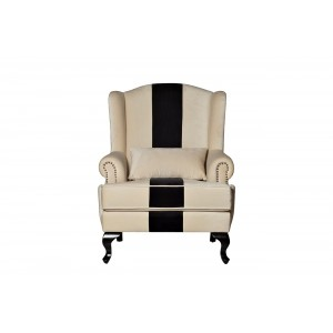 Кресло черно-белое DY-732