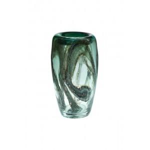 Ваза стеклянная зеленая HJ4143-35-Q88