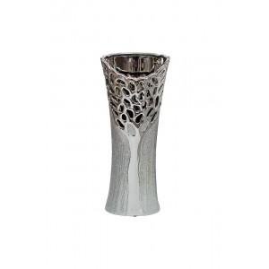 Ваза керамическая серебряная 18H5367M-9