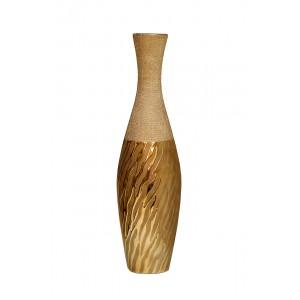 Ваза керамическая золотая 18H3608S-10