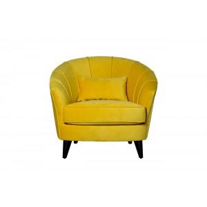 Кресло велюровое желтое ZW-555-06476