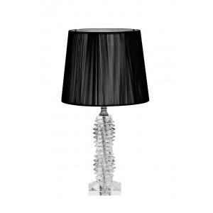 Лампа настольная стеклянная (черный абажур) X71207BL
