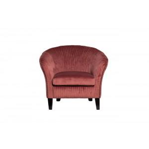 Кресло низкое велюровое темно-розовое PJS30801-PJ626