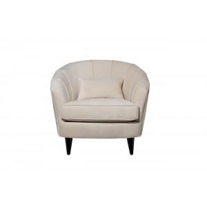 Кресло велюровое белое ZW-555-06479