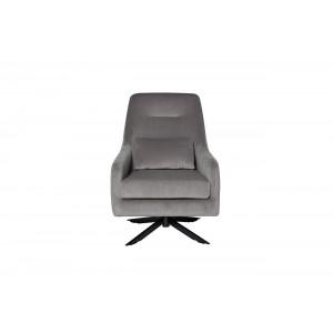 Кресло велюровое светло-серое 46AS-AR3112-LGREY