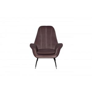 Кресло велюровое серо-розовое 46AS-AR3092-GPINK
