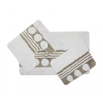 Комплект ковриков для ванной с серебряным люрексом 3 предмета PRIMANOVA D-14225 Jasmine