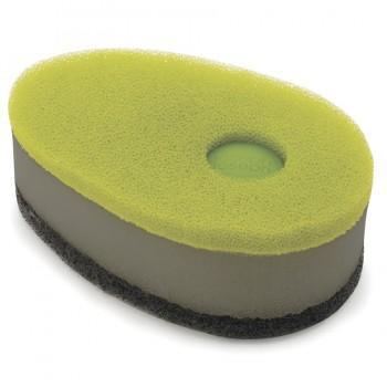 Набор губок с капсулой для моющего стредства Soapy из 3 штук зелёный Joseph Joseph 85072