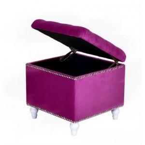 Пуф квадратный малый с ящиком Матера Менса 27 фиолетовый