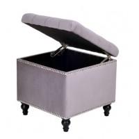 Пуф квадратный малый с ящиком Матера Менса 708 серый