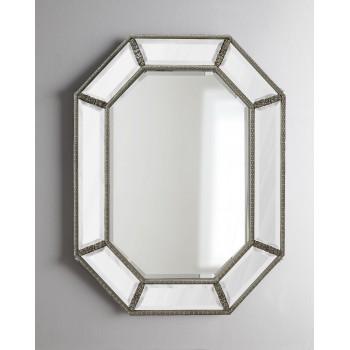 Зеркало в раме Ньюпорт LouvreHome (Florentine silver)