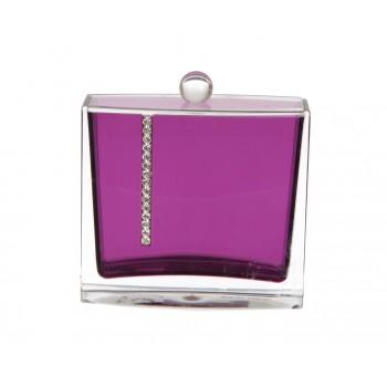 Контейнер для ватных палочек PRIMANOVA D-14726 Roma (фиолетовый)