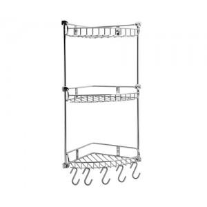 Полка металлическая тройная, угловая WasserKRAFT К-1233