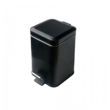 Ведро для мусора квадратное черное с педалью Colombo Black&White B9210 EPN (3л)