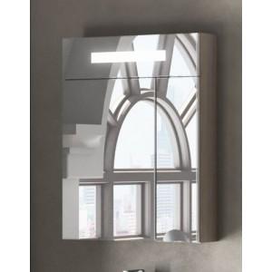 Зеркальный шкаф Smile Стайл 50 белый/дуб орегон