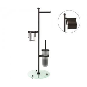 Стойка напольная держатель для туалетной бумаги WasserKRAFT К-1246 бронза тёмная