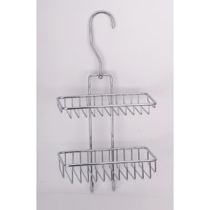 Полка-решетка на душевую штангу двойная прямоугольная Sanartec 151310