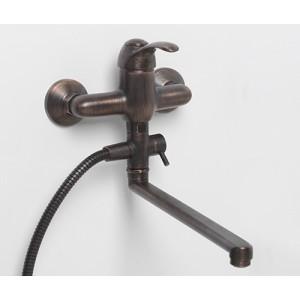Смеситель для ванны с длинным изливом Isar 1302L бронзовый