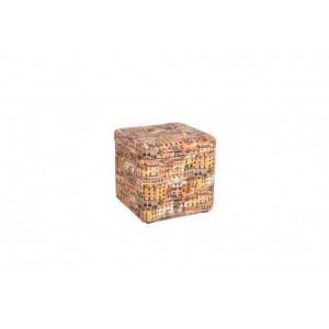 Пуфик с крышкой Окна 333-04К оранжевый