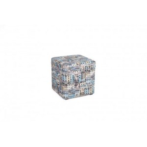 Пуфик с крышкой Окна 333-04К синий