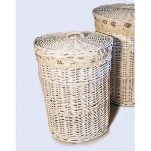 Корзина для белья плетеная №1 KT03W S/10 белая большая