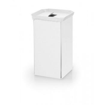 Корзина для белья белая алюминиевая Linabeta 53443.09