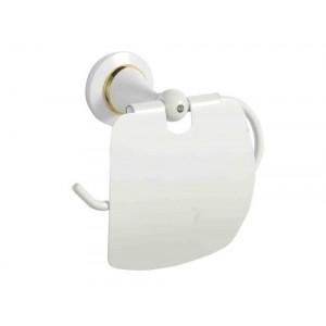 Держатель для туалетной бумаги с крышкой белый Sanartec 831810