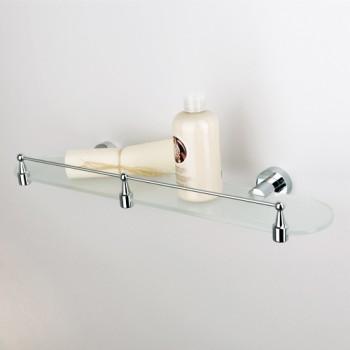 Полка стеклянная 50 см с ограничителем WasserKRAFT Donau K-9444