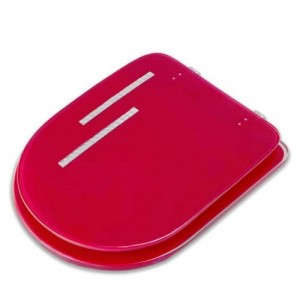 Сиденье для унитаза Roma GL D-14643 красное