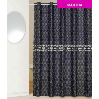 Шторка для ванной Martha D-14841 черная