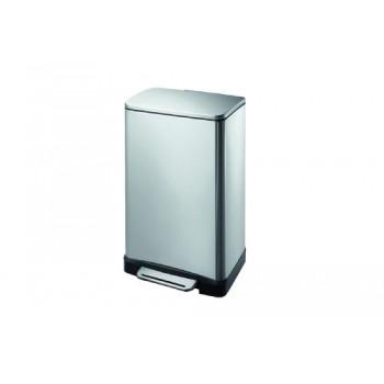 Ведро для мусора с педалью 12 л прямоугольное E-Cube Primanova D-15321 хром