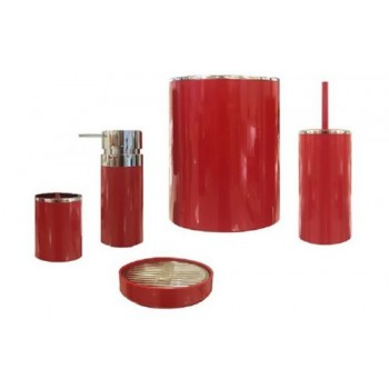 Набор аксессуаров для ванной Lenox M-E31-04 красный
